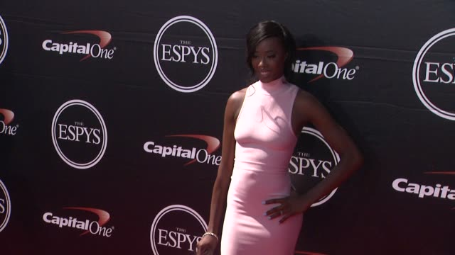 destinee hooker at the 2015 espys at microsoft theater on july 15 2015 in los angeles california - microsoft theater los angeles stock videos and b-roll footage