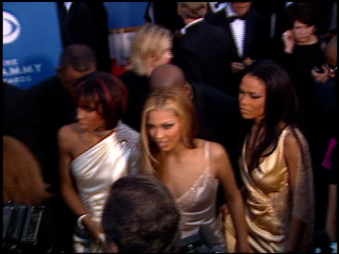 destiny's child at the 2001 grammy awards at staples in los angeles, california on february 21, 2001. - destiny's child stock videos & royalty-free footage
