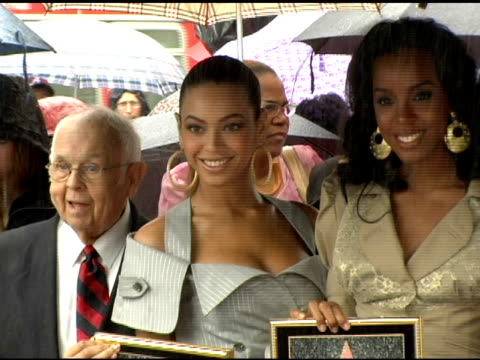 destiny's child at the dedication of destiny's child's star on walk of fame at hollywood boulevard in hollywood, california on march 28, 2006. - destiny's child stock videos & royalty-free footage