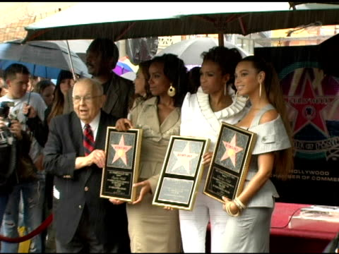 destiny's child at the dedication of destiny's child's star on walk of fame at hollywood boulevard in hollywood, california on march 28, 2006. - destiny's child stock-videos und b-roll-filmmaterial
