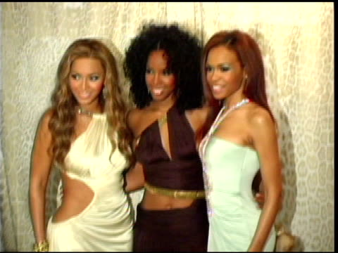 destiny's child at the preview gala for the metropolitan museum's 'wild: fashion untamed' hosted by roberto cavalli hosts arrivals at the... - destiny's child stock videos & royalty-free footage
