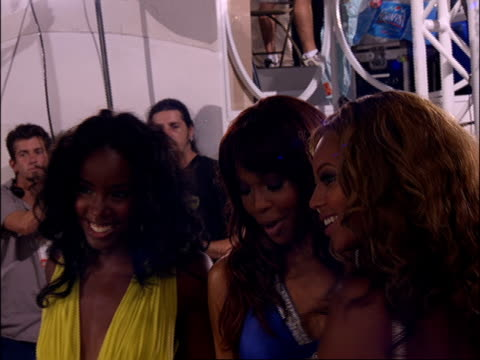 destiny's child during the 2005 mtv video music awards preshow no audio - 2005 stock videos and b-roll footage