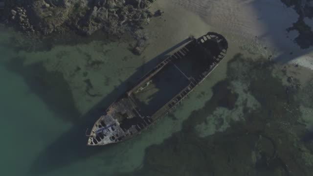 海で壊れた - 沈没する点の映像素材/bロール