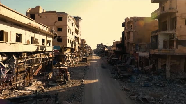 destroyed buildings caused by war - middle east stock videos & royalty-free footage