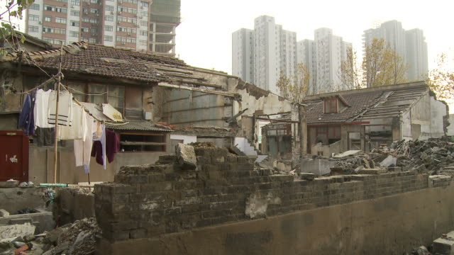 destroyed buildings in shanghai china - littering stock videos & royalty-free footage