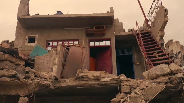 destroyed houses and streets in mosul iraq - mosul stock videos and b-roll footage
