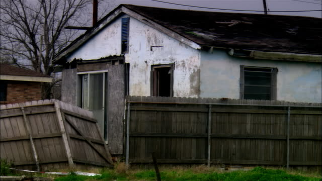 ms, ds,  destroyed houses, gentilly, new orleans, louisiana, usa - hurricane katrina stock videos and b-roll footage