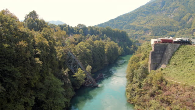 ws destroyed railway bridge across the river neretva during the world war 2 - 1943 stock videos & royalty-free footage