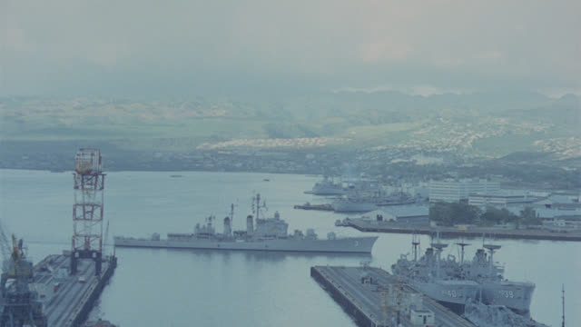 destroyer enters pearl harbor - military stock videos & royalty-free footage