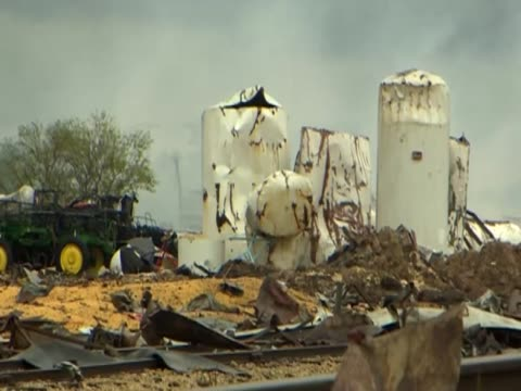 destruction caused by the explosion of a fertilizer plant in west, texas. - fertilizer stock videos & royalty-free footage