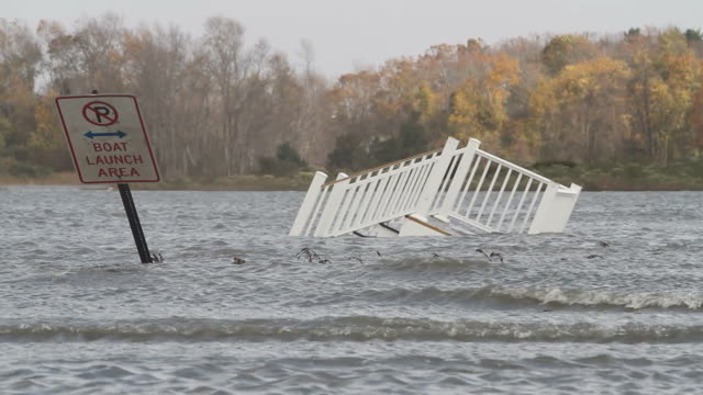 destruction from hurricane sandy - new england usa stock videos & royalty-free footage