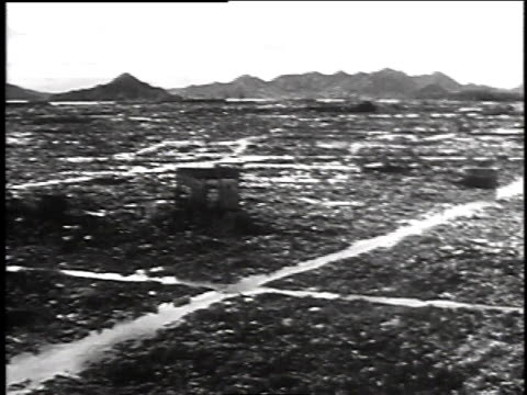 destruction of hiroshima after atomic bomb was dropped / japan - 1945 stock videos & royalty-free footage