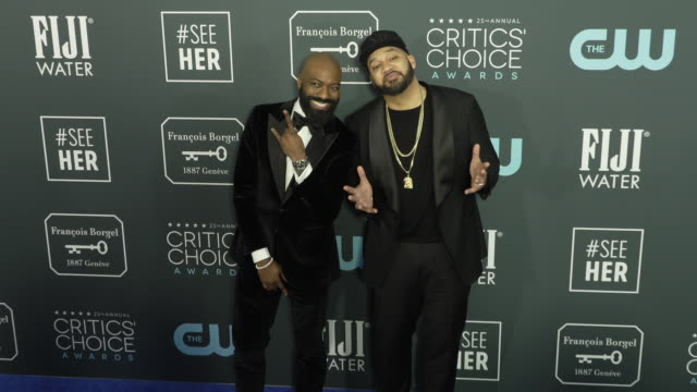 desus nice and the kid mero at the 25th annual critics' choice awards at barker hangar on january 12 2020 in santa monica california - gif stock videos and b-roll footage