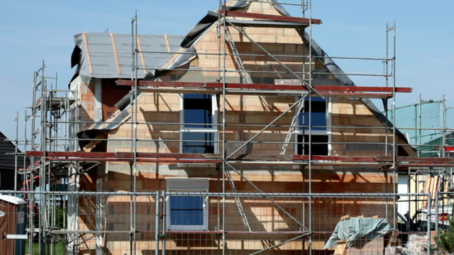 detached house construction - detached stock videos & royalty-free footage