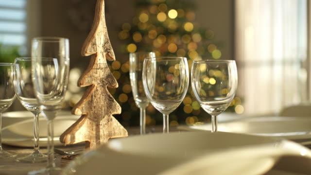 detail christmas table - 片付いた部屋点の映像素材/bロール