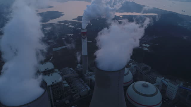 detail of a modern power plant fueled with coal and biomass - gas stock videos & royalty-free footage