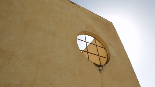 Detail of an Italian colonial building window Eritrea on February 27 2013 in Mendefera Eritrea