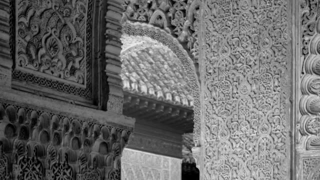 detail of arabesques in the alhambra - tile stock videos & royalty-free footage