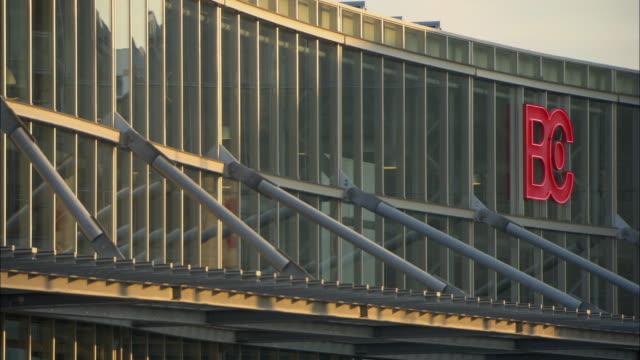 vidéos et rushes de ms detail of bella convention center / copenhagen, denmark - facade