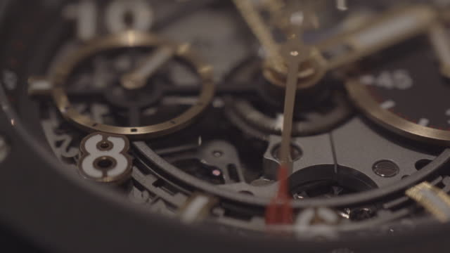 detail of complex watch - wrist watch stock videos & royalty-free footage