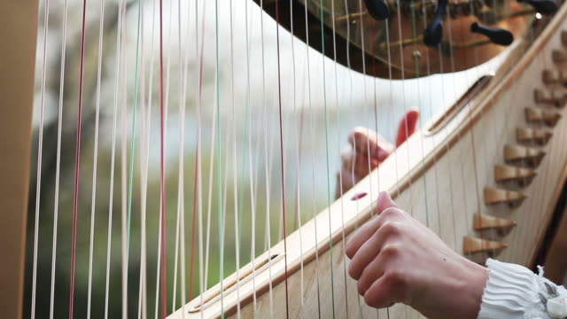 detail of harp,time lapse - harp stock videos & royalty-free footage