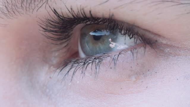Detail of human eye blinking