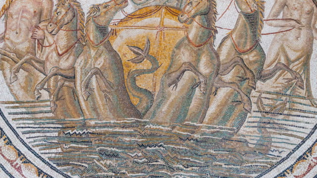 Detail of mosaic in Bardo Museum