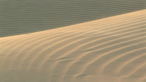 ws detail of sand affected by the wind on the dunes / ilha dos lencois, maranhao, brazil - blowing stock videos & royalty-free footage