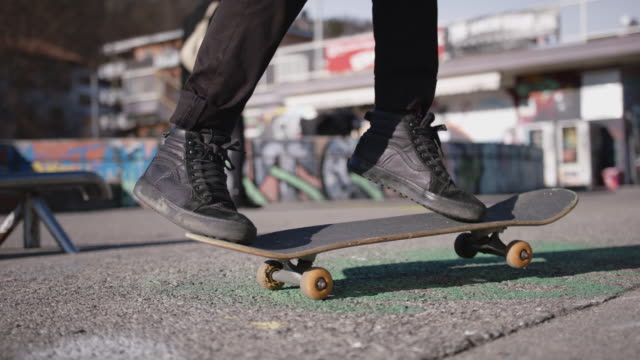 detail of skater doing tricks - beginnings stock videos & royalty-free footage