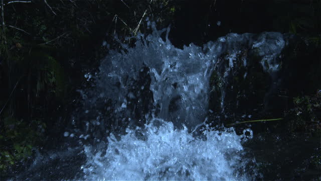 detail of small waterfall in slow motion, oregon - canyon stock videos & royalty-free footage