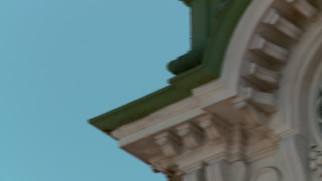 a detail of the council's clock unità d'italia square in triest - number 4 stock videos & royalty-free footage