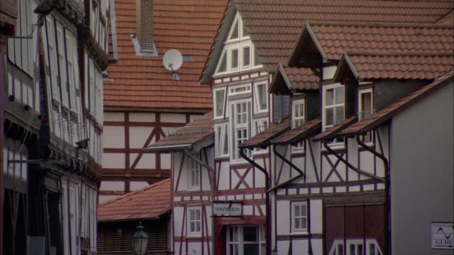 MS Detail of traditional half-timbered house / Kassel, Germany