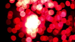 Detail of unfocused fireworks.Slow motion