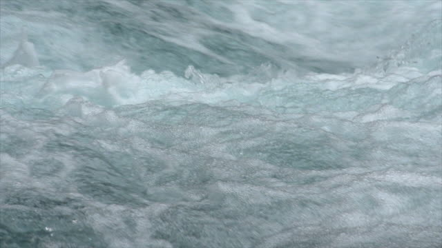 detail of white water river rapids. - flowing water stock videos & royalty-free footage