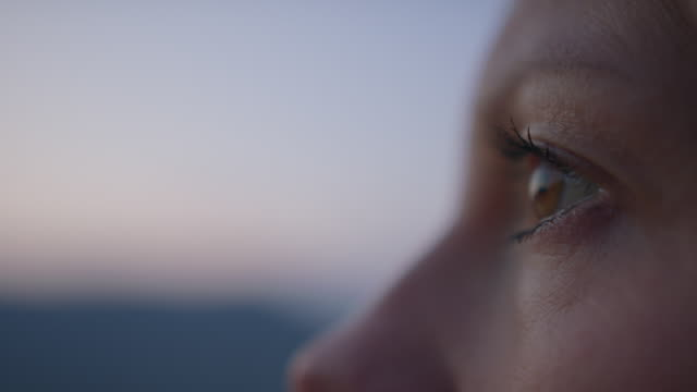 detail of woman's eye - image focus technique stock videos & royalty-free footage