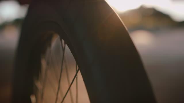 Detail schot van BMX fiets