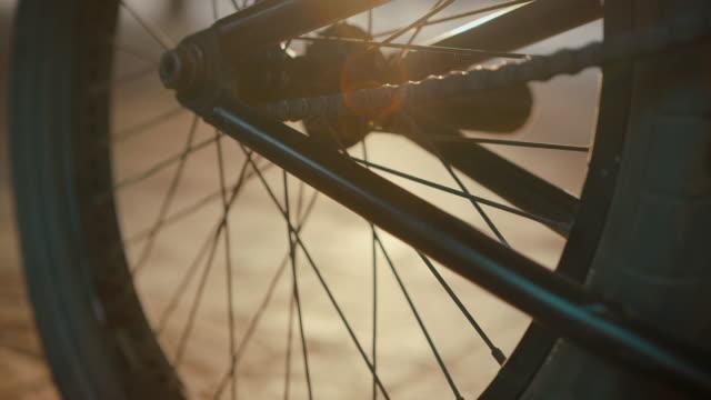 Detailansicht des BMX bike