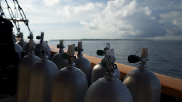 detail shot of gas canisters on a sailboat - medium group of objects stock videos & royalty-free footage