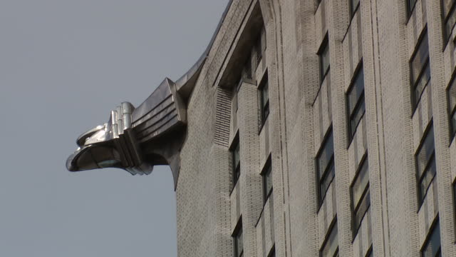 CU detail shot of one of the Art Deco Eagles on the side of the Chrysler Building in Manhattan.