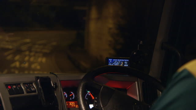 "detail shots lorry driving at night - ""bbc universal"" stock videos & royalty-free footage"