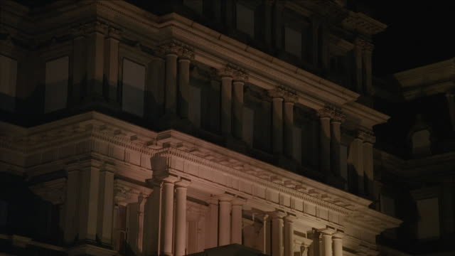TD Detailed facade and pillars of the Old Executive Office Building / Washington, D.C., United States