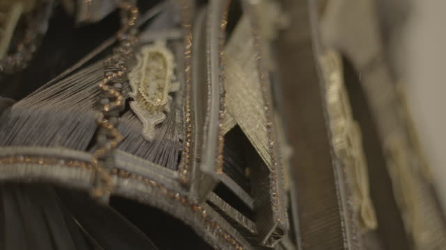 Detailing on designer Guo Pei's clothes