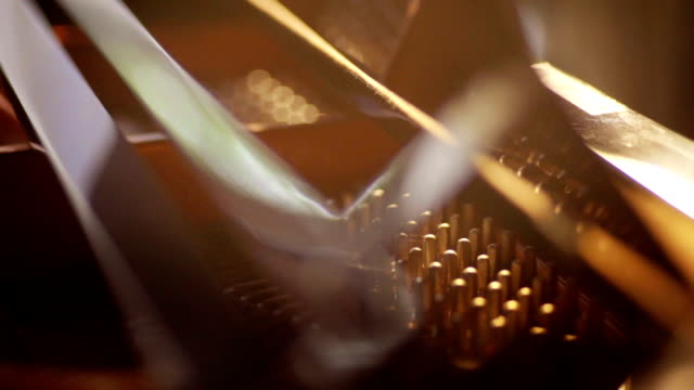 details inside the grand piano. - piano stock videos and b-roll footage