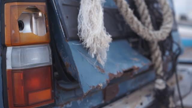 details of broken car - tail light stock videos & royalty-free footage