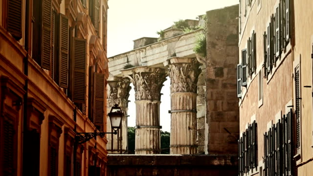 Details of capitols of the Roman Forum in Rome