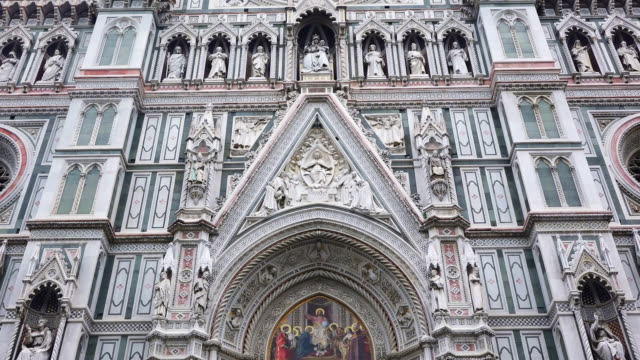 ms la details of duomo santa maria del fiore / florence, tuscany, italy - female likeness stock videos & royalty-free footage