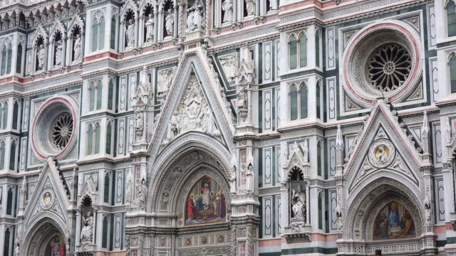 ms details of duomo santa maria del fiore / florence, tuscany, italy - duomo santa maria del fiore stock videos and b-roll footage
