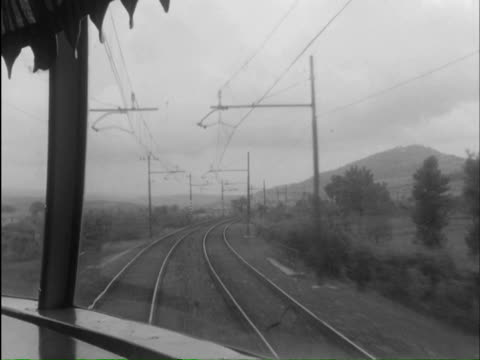 ms ts details of streamliner and careering trolley / rome, rome, italy - transport conductor stock videos & royalty-free footage
