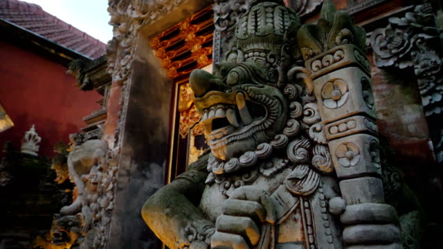 details of ubud palace in bali - god stock videos & royalty-free footage