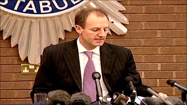 Detective Chief Superintendent Stewart Gull press conference **BEWARE Suffolk Martlesham Suffolk police HQ INT Detective Chief Superintendent Stewart...